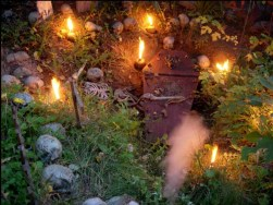 forest of mirrors coffin and candles