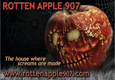 rotten apple 907 Halloween Home Haunt logo