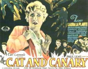 The Cat and the Canary (1927) Poster horizontal