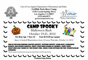 camp spooky halloween bash griffith park