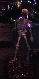 A skeleton fire-walker at Boney Island