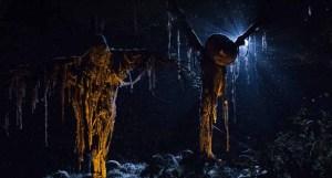 Jack o Lantern scarecrows