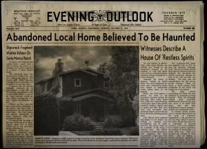 House of Restless Spirits newspaper