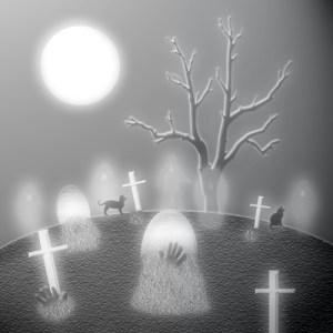 kitties in cemetery