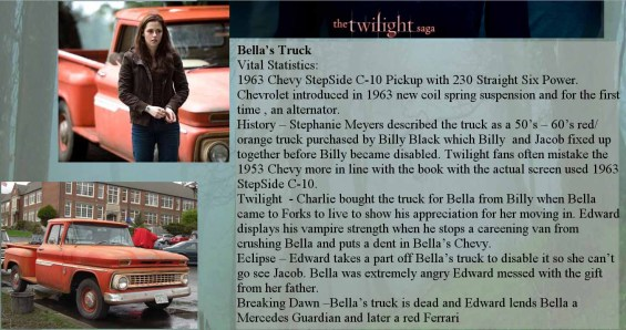 twilight bella's truck