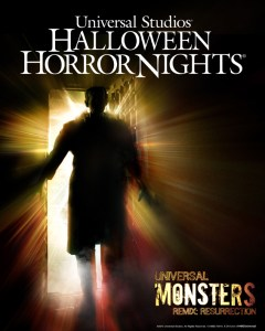 Classic monsters from Universal Studios cavort to the music of Figure in the House of Horrors at the 2013 Halloween Horror Nights
