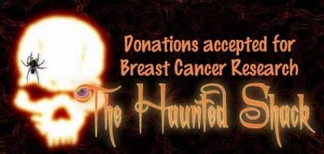 Haunted Shack Breast Cancer Donation Logo