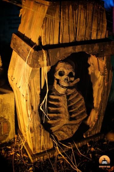Mourning Rose Manor 2013 skeleton in casket