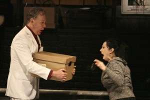 Todd Robbins invites an audience member to stick her hand in a box full of evil.