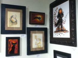 October Shadows 2014: cats and other paintings