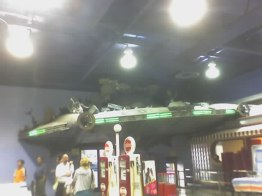 Fry's flying saucer crashed interior view