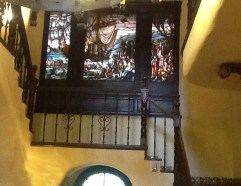 stained glass inside the Temple House. Copyright 2015 Alisa C. Twombly