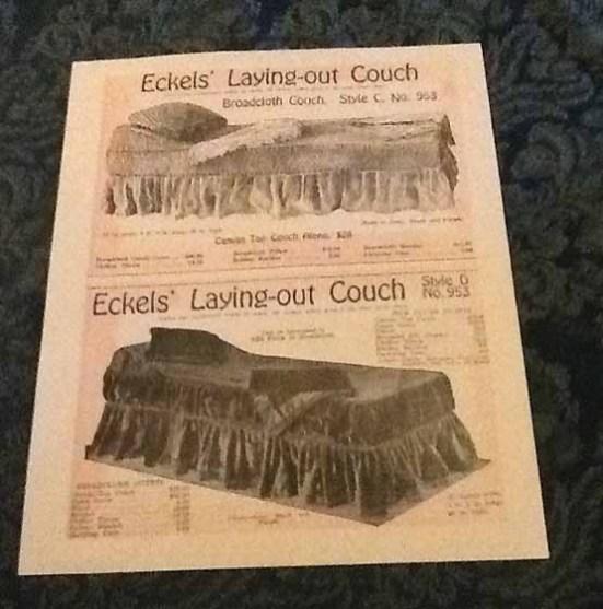 Funeral advertisement