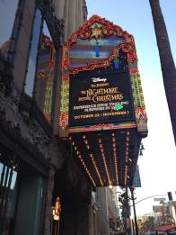 El Capitan marquee with nightmare before christmas