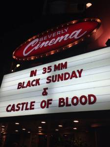 Marquee Black Sunday Castle of Blood