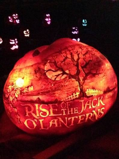 Rise of the Jack O'Lanterns 2015 title pumpkin