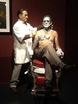 Jack Pierce and Boris Karloff at LACMA's Guillermo Del Toro: At Home with Monsters.