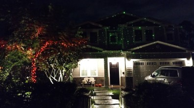 A lighted house on Morse Avenue (photo by Warren So)