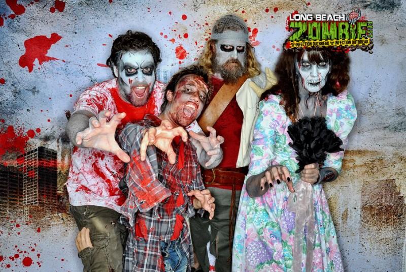 The Long Beach Zombie Fest quartet