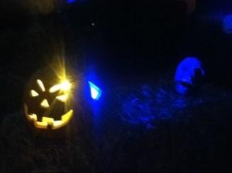 Jack O'Lantern in the yard (photo by Steve Biodrowski)