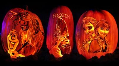 Rise of the Jack O'Lanterns frozen_elsa_anna_olaf_sven_art-pumpkins