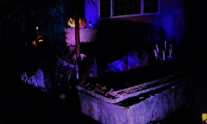 The House at Haunted Hill stone coffin