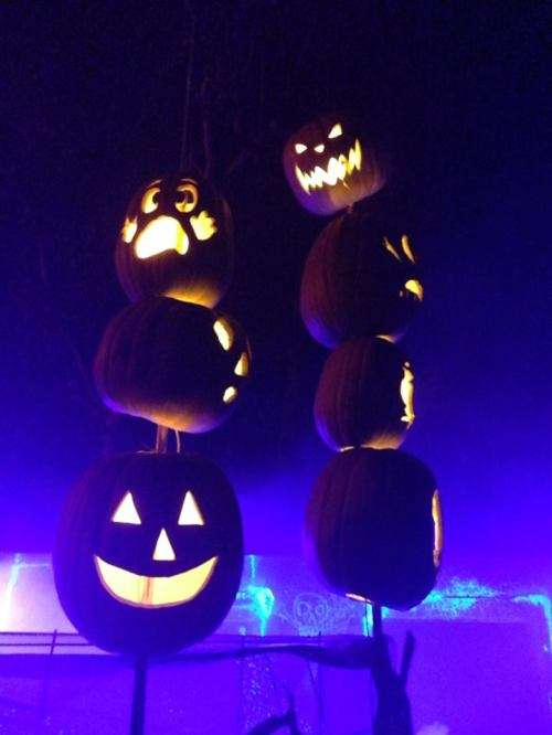 Los Angeles Haunted Hayride 2017 Jack O Lanterns on sticks