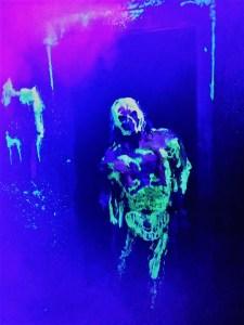 Los Angeles Haunted Hayride 2017 Review glow in dark monster
