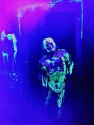 Los Angeles Haunted Hayride 2017 glow in dark monster