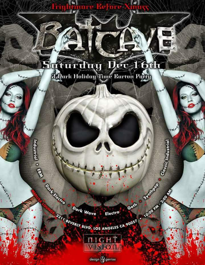 Frightmare Before Xmas Party at Batcave Hollywood