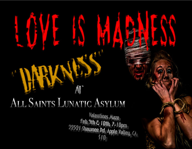 All Saints Lunatice Asylum Vvalentines 2018