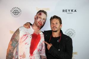 Zombie House Party: Ryan Kwanten and zombie