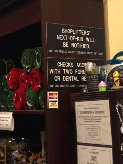 Los Angeles Coroner Gift Shop