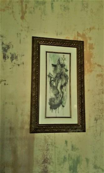 Cauldron drawing witch