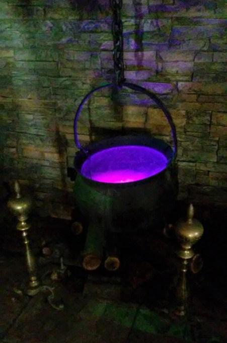 Cauldron fireplace close
