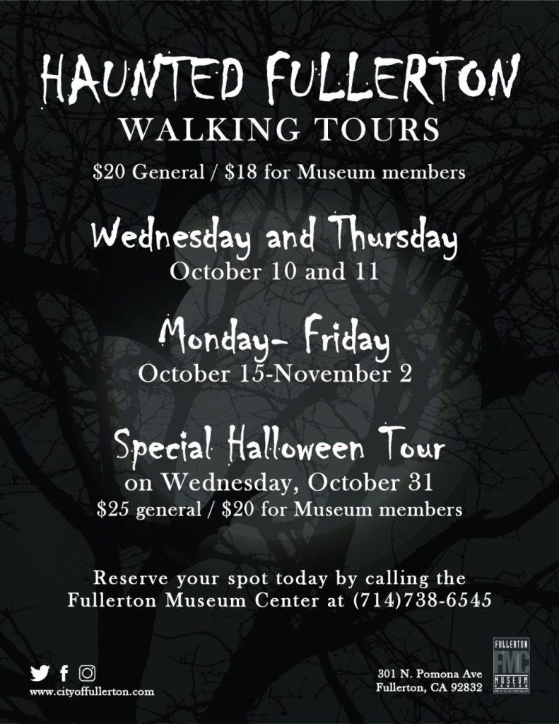 Haunted Fullerton Walking Tours 2018