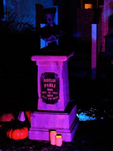Van Oaks Cemetery 2018 Adelia Paull grave marker