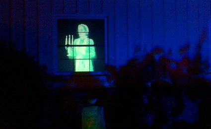 Van Oaks Cemetery 2018 haunted window 1