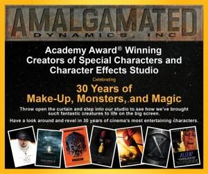 Amalgamated Dynamics exhibition at Hollywood Museum
