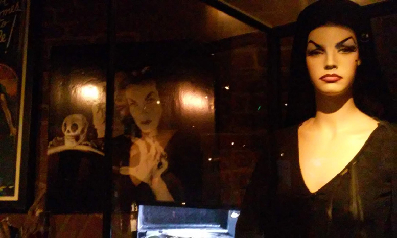 Hollywood Museum Monsters Mummies and Mayhem Vampira exhibit