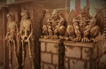 Skeletons and gargoylves