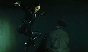 The Matrix jump kick