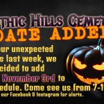 Gothic Hills Cemetery added date