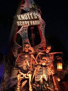 Knott's Scary Farm 2019 skeleton trio