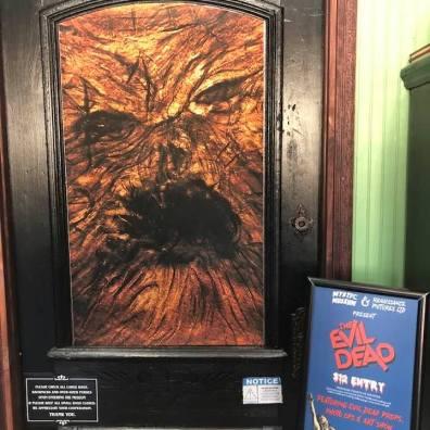 Entrance to the Evil Dead exhibit