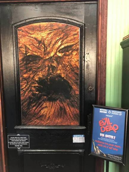 Entrance to the Evil Dead exhibit