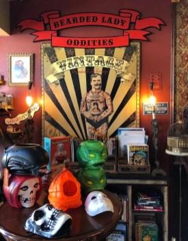 Inside the Bearded Lady's Vintage Oddities emporium