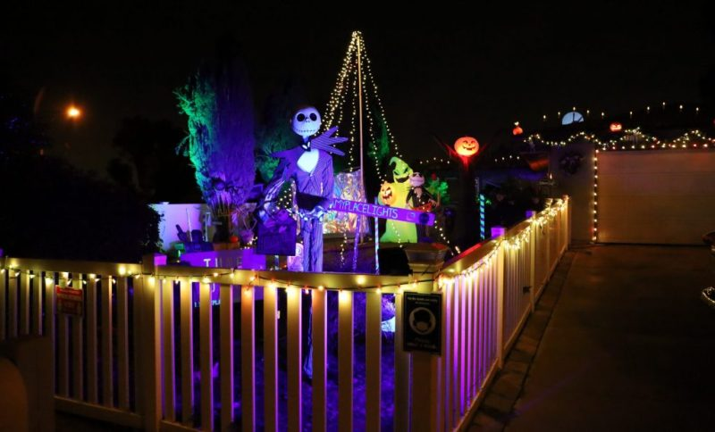 Bellamy Place Light Shows: Nightmare Before Christmas