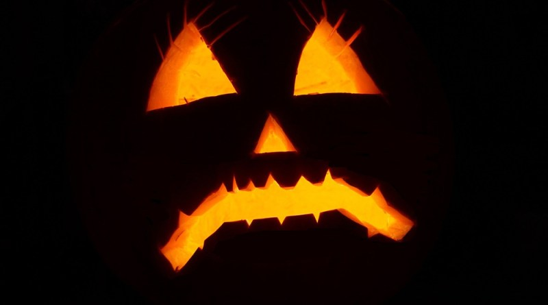 Halloween Jack O' Lantern sad