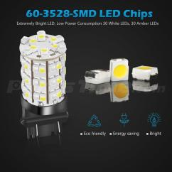 Stop Lamp Led Grand New Veloz Avanza Luxury Dual Color 60 White Amber 3157 3757 3057 Turn Signal